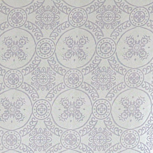 Sheer Medallion Print Window Panels - Amethyst