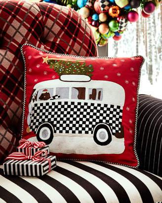 Mackenzie Childs MacKenzie-Childs Home For The Holidays Pillow