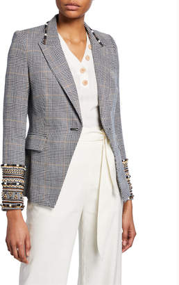 Veronica Beard Bronley Tailor Fit Embroidered Dickey Jacket