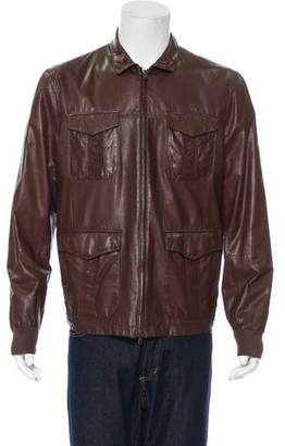 Brunello Cucinelli Leather Field Jacket