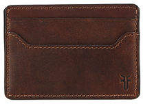 Frye Logan Leather Card Case with Money Clip