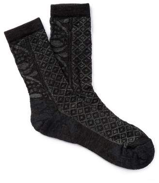 Smartwool Lily Pond Pointelle Wool Blend Crew Socks