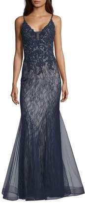 Xscape Evenings Sparkling Lace Mermaid Evening Dress