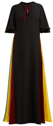 Staud - Victorian Rainbow Panel Maxi Dress - Womens - Black Multi