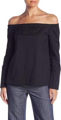 Lafayette 148 New York Amy Off-the-Shoulder Blouse (Petite)