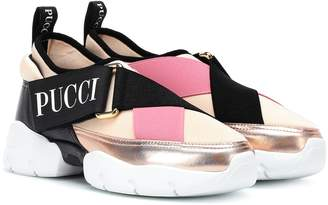 Emilio Pucci Neoprene and leather sneakers