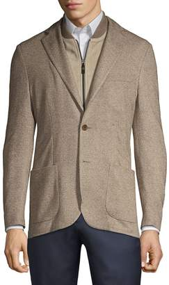 Corneliani Solid Twill Single-Breasted Jacket
