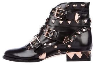 Sophia Webster Embellished Leather Ankle Boots