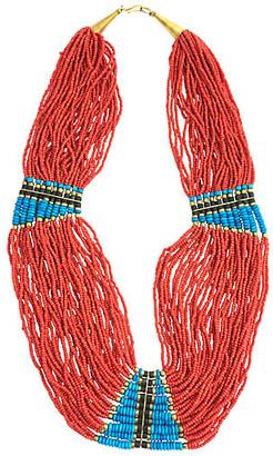 One Kings Lane Vintage Multi-Strand Beaded Necklace - Owl's Roost Antiques