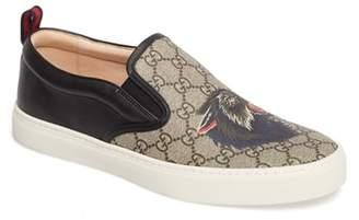 Gucci Wolf GG Supreme Slip-On Sneaker