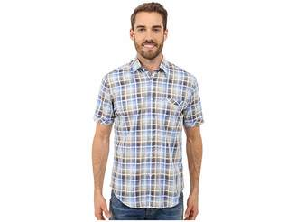 James Campbell Chimala Plaid Short Sleeve Woven Men's Short Sleeve Button Up