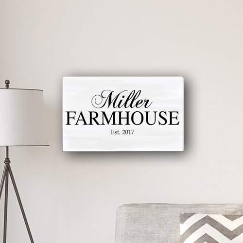 Winston Porter 'Family Farmhouse' Textual Art on Canvas