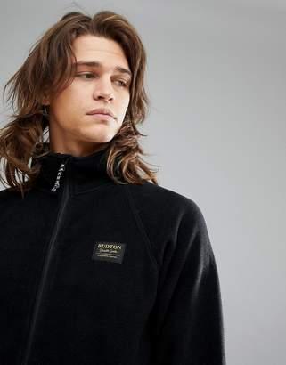 Burton Snowboards Ember Full Zip Fleece Sweatshirt In Black