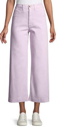 MiH Jeans Caron High-Rise Cropped Wide Leg Pants
