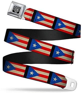 Buckle-Down Unisex-Adults Seatbelt Belt Puerto Rico XL