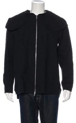 Kris Van Assche Seersucker Hooded Jacket