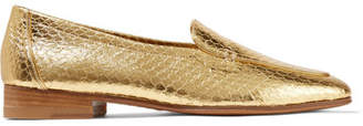 The Row Adam Metallic Elaphe Loafers - Gold