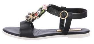 Rupert Sanderson Embellished Leather Sandals