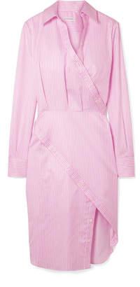 Altuzarra Monday Pinstriped Cotton-twill Shirt Dress