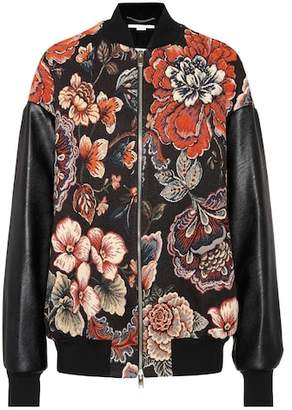 Stella McCartney Jacquard bomber jacket