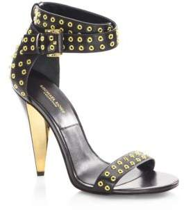 Michael Kors Niki Runway Leather Ankle-Strap Sandals