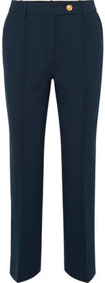 Tory Burch Sara Jersey Straight-leg Pants - Navy
