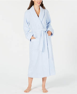 Charter Club Luxe Terry Piped Wrap Robe, Created for Macy's