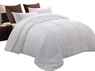 MEROUS Queen Comforter Duvet Insert White- Soft Goose Down Alternative Quilted Warm Comforter