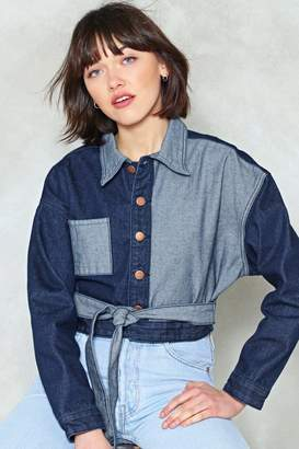 Nasty Gal Don't be Shady Cropped Denim Jacket