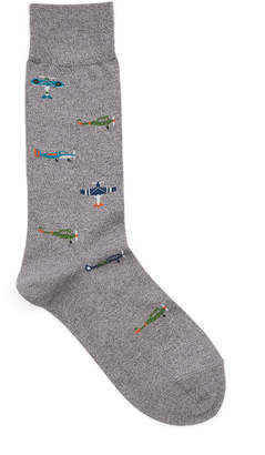 Tabio Airplane Mid-Calf Socks