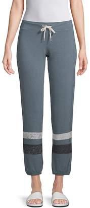 Monrow Women's Striped Drawstring Pants