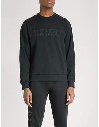 Kenzo Logo-embroidered cotton-jersey sweatshirt