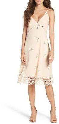 Women's Bb Dakota Haleigh Floral Embroidered Slipdress $105 thestylecure.com