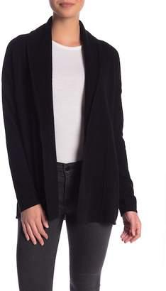 Sofia Cashmere Textured Open Front Cashmere Cardigan