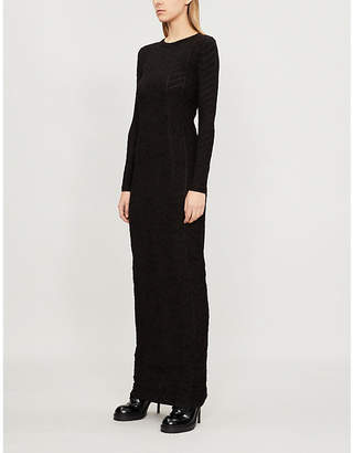 Gareth Pugh Long-sleeved devoré dress