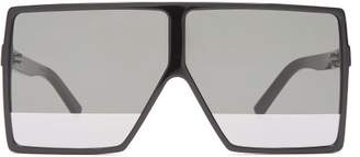Saint Laurent Betty Flat Top Acetate Sunglasses - Womens - Black Multi