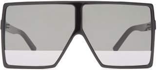 Betty Flat Top Acetate Sunglasses - Womens - Black Multi