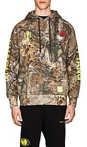Wu Wear Men's Camouflage Fleece Hoodie-Olive