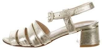 Maryam Nassir Zadeh Metallic Multistrap Sandals