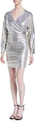 Alice + Olivia Pace Batwing-Sleeve Drapey Dress