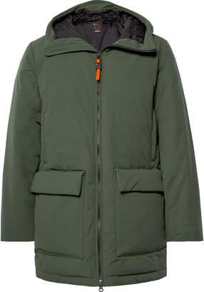 Aspesi Shell Hooded Down Jacket - Men - Green