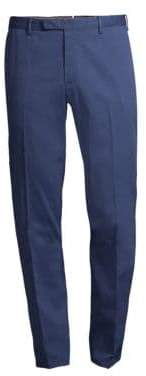 Boglioli Men's Stretch Cotton Pants - Blue - Size 46 (30)
