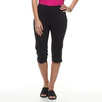 Dana Buchman Women's Solid Pull-On Capris