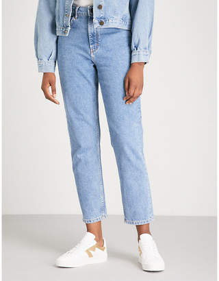 Maje Pario washed-out denim jeans