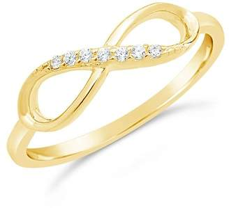 Sterling Forever 14K Gold Vermeil Pave CZ Infinity Ring