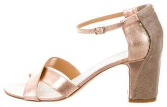 Maison Margiela Metallic Ankle Strap Sandals