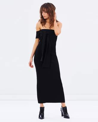 Escada Off Shoulder Knit Dress