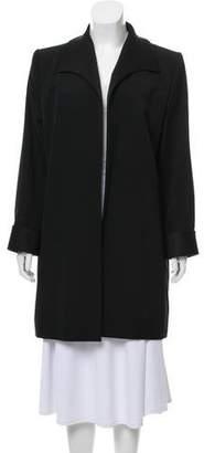 Saint Laurent Knee-Length Open Front Coat