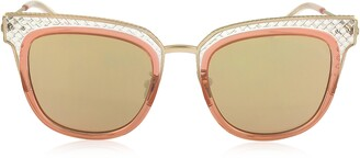 Bottega Veneta BV0122S Square Acetate Frame Women's Sunglasses