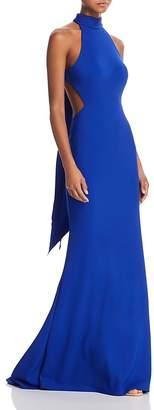 Mac Duggal Sleeveless Bow-Back Gown